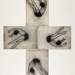 Flip Four Panels, 2009, Drypoint, 56 x 38 cm (each)