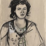 Greek Woman, 2012, Charcoal and conte drawing on paper, 76 x 56 cm