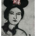 Mickey Mouse Ears, 2006, Drypoint, 90 x 76 cm